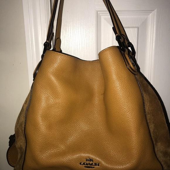 efee49a935 Coach Handbags - Coach shoulder bag - Camel color- leather